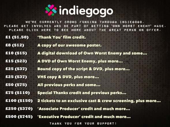 IndieGoGo Perks